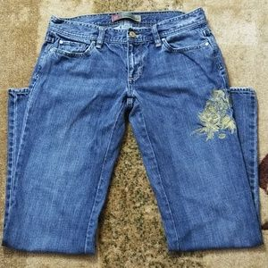 Old Navy Boot Cut Ultra Low Waist Cotton Jeans